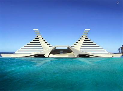 Architecture Cool Wallpapers Pyramid Floating Hotel Buildings