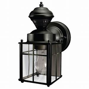 hampton bay bayside mission 150 degree black motion With outdoor lighting fixtures edmonton