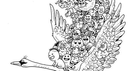 Doodle Invasion Coloring Book By Kerby Rosanes, Via