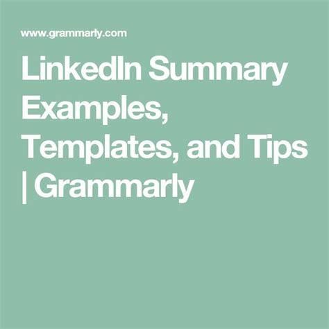 Linkedin Summary Template Best 25 Linkedin Summary Ideas On Search