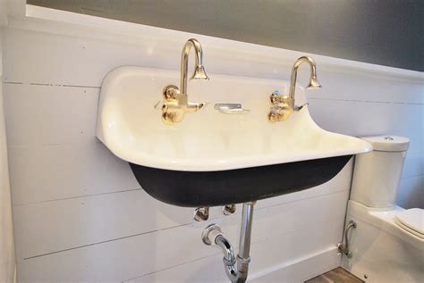 double faucet trough sink bathroom creative ideas trough sink with floating sink