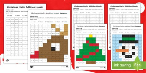 * New * Christmas Foundation Phase Addition To 10 Activity Sheet