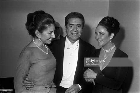 Maria Callas, Giuseppe di Stefano and Elizabeth Taylor on ...