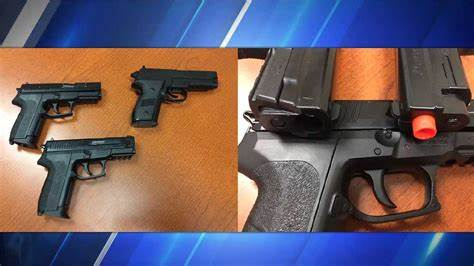 Police: Stolen airsoft guns had been modified to look more ...