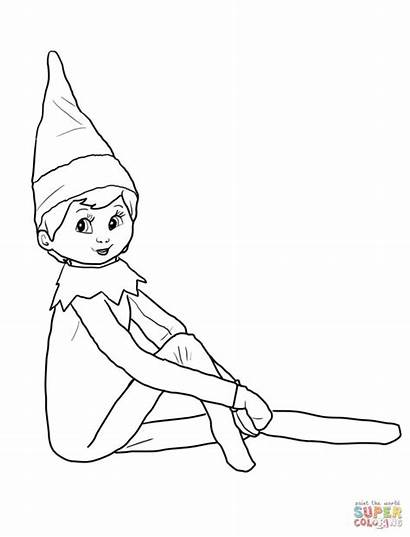 Elf Coloring Shelf Pages Printable Inspiring 14th