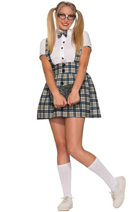 50u0026#39;s Nerd Girl Adult Costume (XS/S) - PureCostumes.com