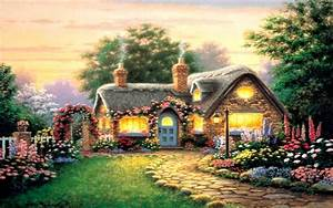 Peaceful, Beautiful, Cottage, Wallpapers, Widescreen ...