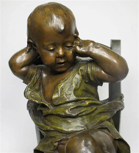 sur chaise 19th century patinated bronze sculpture quot l 39 enfant