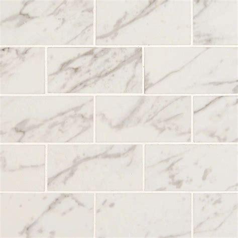 white carrara 2x4 pietra porcelain tile polished 2x4