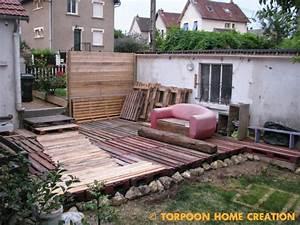 Terrasse Avec Palette : terrasse de jardin prix veranda ~ Melissatoandfro.com Idées de Décoration