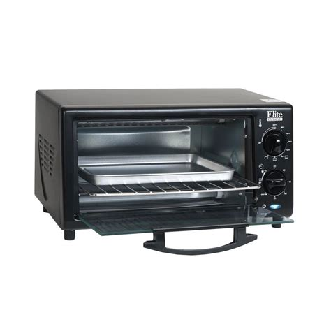 Toaster Oven Toast - elite 4 slice toaster oven broiler bake broil and toast