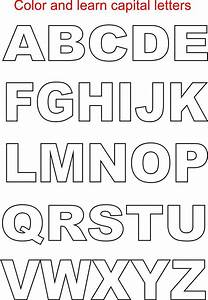 capital letters coloring printable page for kids With pics of alphabet letters
