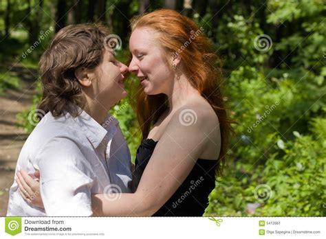 Girlfriends Stock Image Image Of Lips Heat Kissing