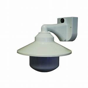 polymer products 1 light white outdoor incandescent long With outdoor sensor lights home hardware