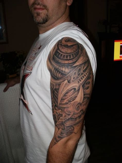 biomechanic upper arm tattoo tattoo picture