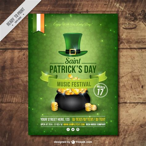 Day Poster Template by Freebie 5 Free Flyer Poster Templates For St S Day