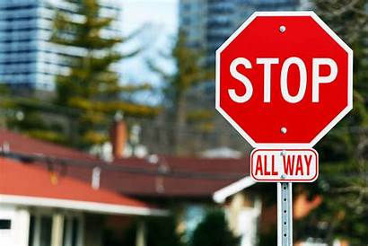 Stop Stopping Positions Signs Crossroads Driving Line