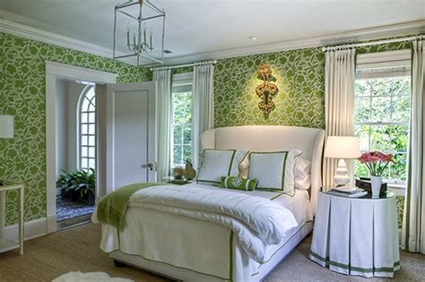 Green Bedrooms : 50 Gorgeous Green And White Bedrooms