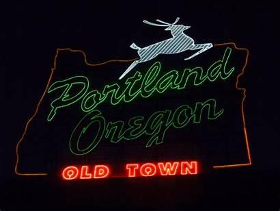 Portland Oregon Buzzfeed Signs Neon Town Quite