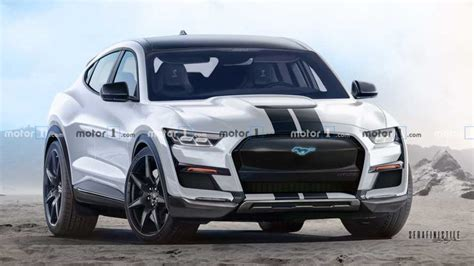 ford mustang mach  shelb  renderings predict  inevitable
