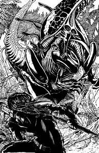 Alien T-rex vs Predator by BESTrrr on DeviantArt