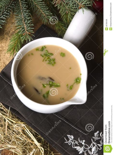Traditional Polish Mushroom Soup