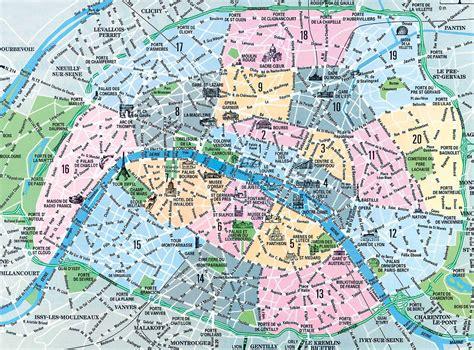 map  paris arrondissements top arrondissement sights