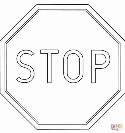 Stop Coloring Colorare Printable Ausmalbilder Znaki Drogowe