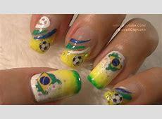 World Cup Brazil Nail Art Tutorial FIFA Mundial BraZil