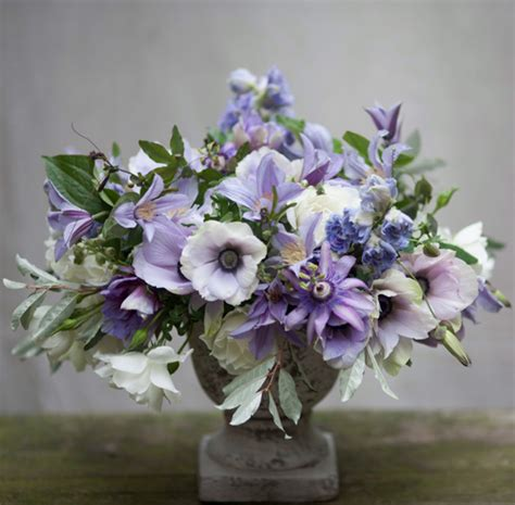 purple flower arrangements flirty fleurs  florist