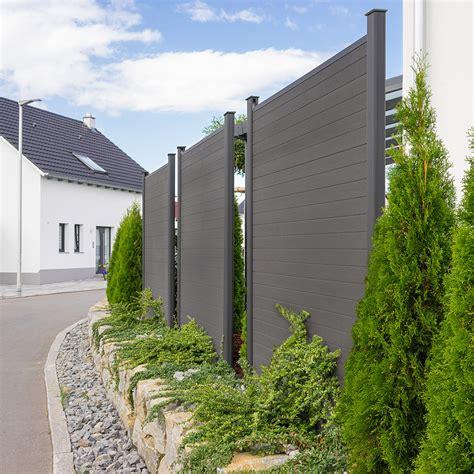 Sichtschutz Garten Elemente by Wpc Sichtschutzzaun Sichtschutz V2 Grau 170 X 180 Cm 3x