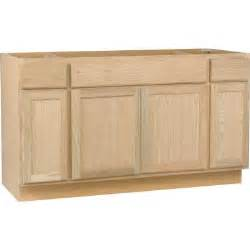 kitchen island cabinet base hton bay 60x34 5x24 in sink base cabinet in unfinished oak sb60ohd the home depot