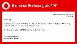 Vodafone Rechnung Email : phishing mail alerts juni 2014 ~ Themetempest.com Abrechnung