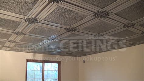 vinyl flooring on ceiling differences between vinyl and metal drop ceiling grids drop ceilings installation how to