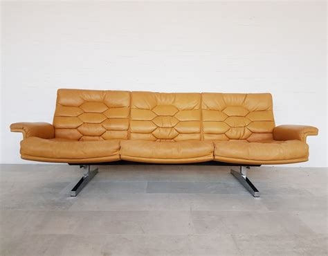 Sede Ds by De Sede Ds 35 Sofa With Customized Ds P Leather 1970s