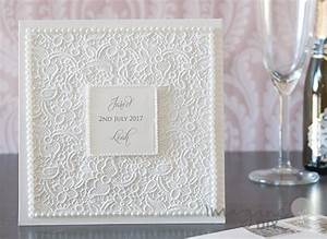 how to make lace embossed pocket invitation with pearls With luxury pocket wedding invitations uk