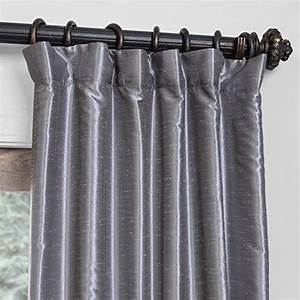 Half price drapes pdch kbs7bo 108 blackout vintage for Gray curtains texture