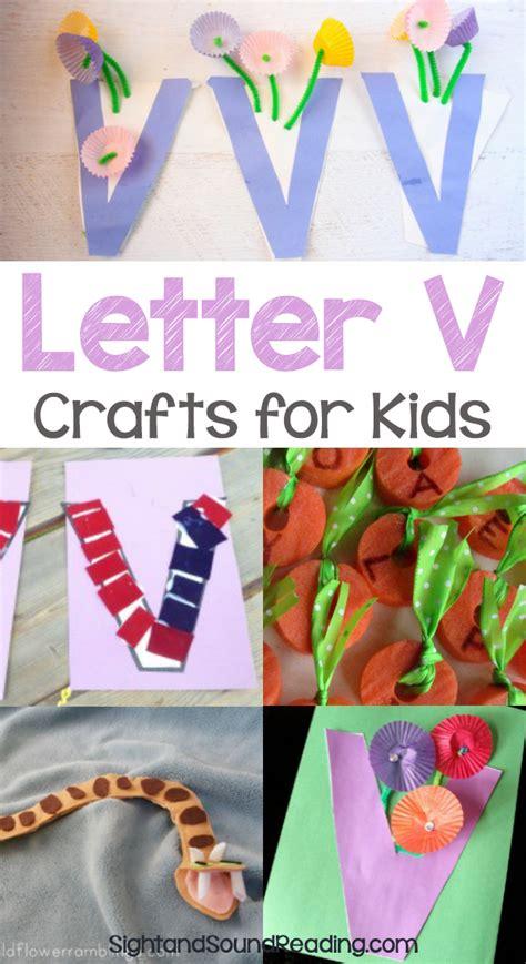 letter v crafts for preschool or kindergarten easy 307 | Letter V Crafts