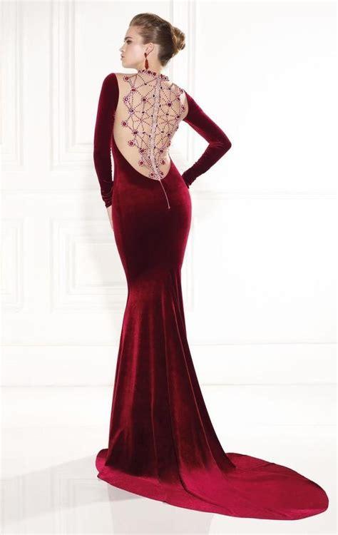 Tarik Ediz - Embellished Long Sleeve Gown 92520 | Long ...