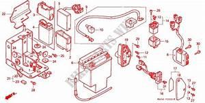 Tools Battery Box For Honda Vt 1100 Shadow C2 Ace White