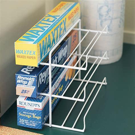 kitchen wrap organizer storage wrap rack kitchen cabinet organization kitchen 6580