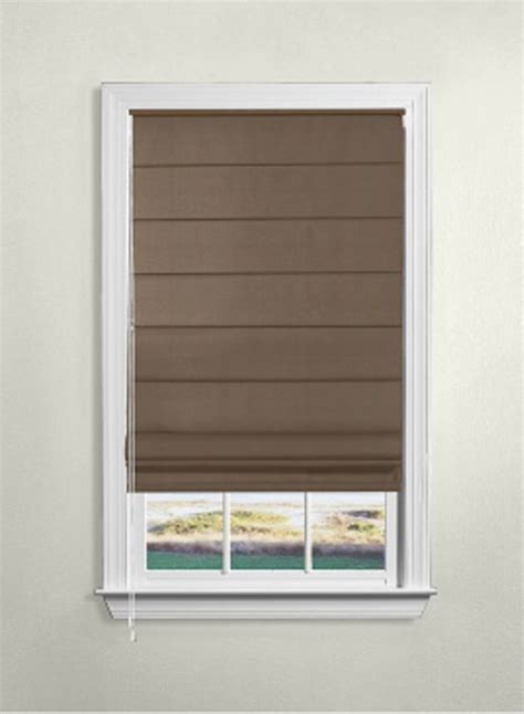 Levolor Roman Shades Flat  The Home Depot Canada