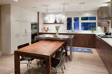 Island and dining table combo   Kitchen # 2   Pinterest