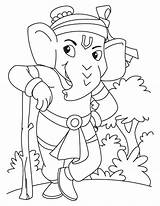 Ganesha Coloring Lord Pages Ganesh Sketch Guard Standing National Drawing Colouring Hanuman Bala Sketches Rama Simple Portal Getcolorings Books Getdrawings sketch template