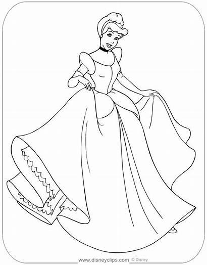 Cinderella Coloring Disneyclips Showing