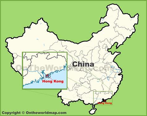 hong kong location   map  china