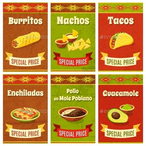 cuisine mexicaine traditionnelle food poster graphicriver