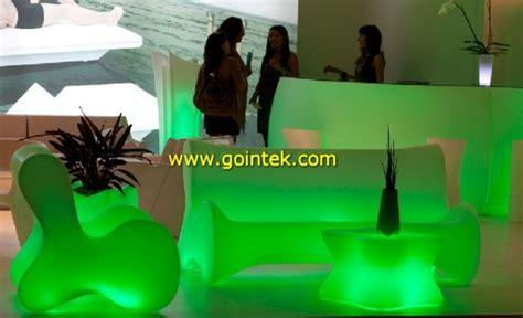 outdoor plastic sofailluminated led molded plastic sofa