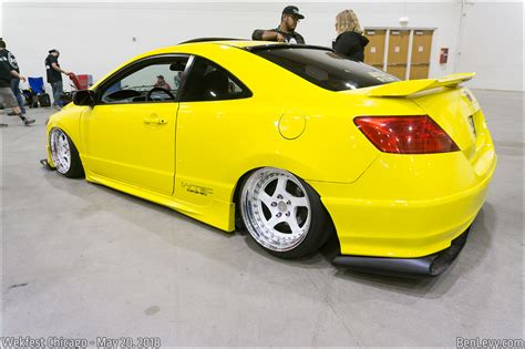 yellow honda civic  coupe benlevycom