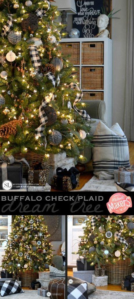 black  white plaid buffalo check christmas tree christmas tree decorations rustic